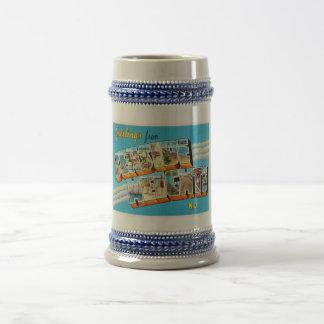 Seaside Heights New Jersey NJ Vintage Postcard- Beer Stein
