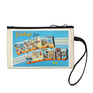 Seaside Heights New Jersey NJ Vintage Postcard- Coin Purse