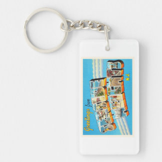 Seaside Heights New Jersey NJ Vintage Postcard- Single-Sided Rectangular Acrylic Keychain