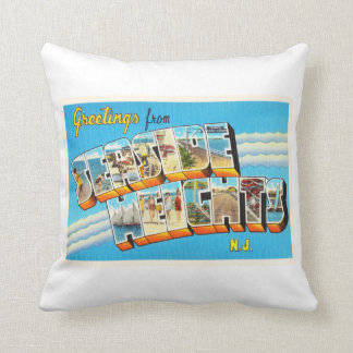 Seaside Heights New Jersey NJ Vintage Postcard- Throw Pillow