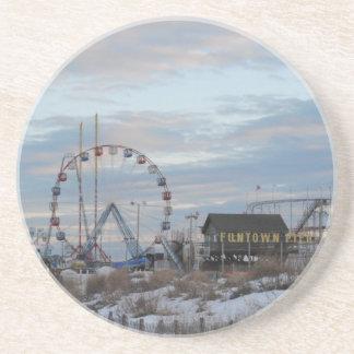 Seaside Heights Sunrise Funtown Pier Jersey Shore Coaster
