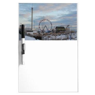 Seaside Heights Sunrise Funtown Pier Jersey Shore Dry-Erase Board