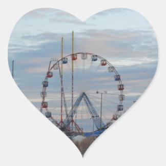 Seaside Heights Sunrise Funtown Pier Jersey Shore Heart Sticker