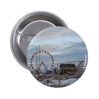 Seaside Heights Sunrise Funtown Pier Jersey Shore Pinback Button