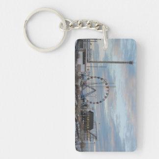 Seaside Heights Sunrise Funtown Pier Jersey Shore Single-Sided Rectangular Acrylic Keychain