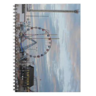 Seaside Heights Sunrise Funtown Pier Jersey Shore Spiral Notebook