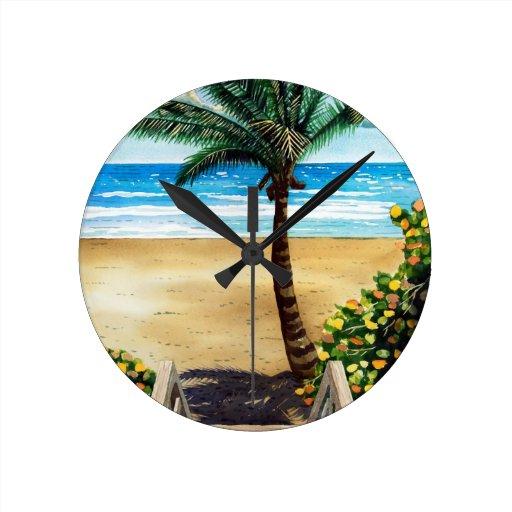 Seaside I Round Wall Clock