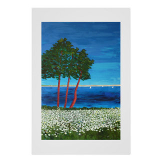 Seaside in Brittany Poster