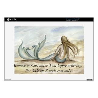 Seaside Mermaid Laptop Skin Camille Grimshaw
