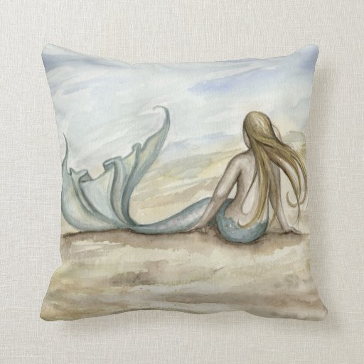 Seaside Mermaid Pillow