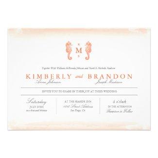Seaside Monogram Wedding Invitation