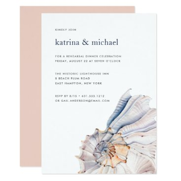 Beach Themed Seaside | Nautical Rehearsal Dinner Invitation