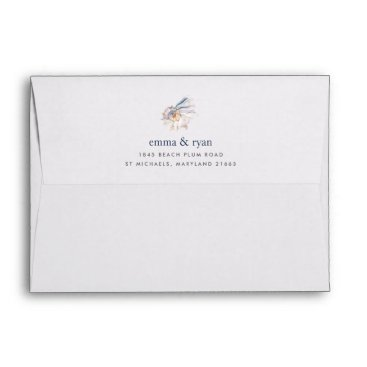 Beach Themed Seaside | Nautical Seashell 5x7 Return Address Envelope
