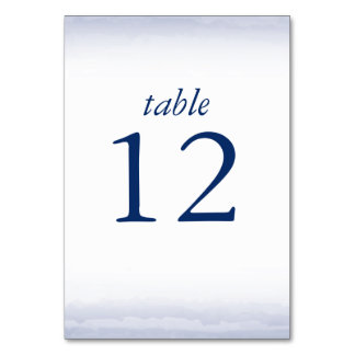 Seaside Navy Table Number Cards Table Cards