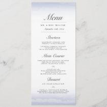 Seaside Navy Wedding Dinner Menu