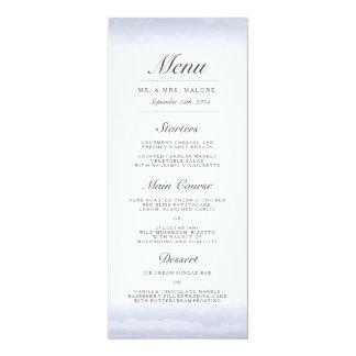Seaside Navy Wedding Dinner Menu Card