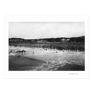 Seaside, Oregon Bathing Hour Beach Scene Post Cards