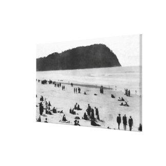 Seaside, Oregon Beach and Tillamook Head Canvas Print