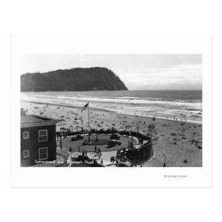 Seaside, Oregon Beach Scene from Air Photograph Postcards