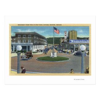 Seaside, Oregon - Broadway from Trail's End Postcard