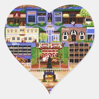 Seaside Oregon Heart Sticker