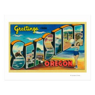 Seaside, Oregon - Large Letter Scenes Post Card