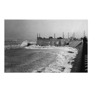 Seaside, Oregon Sou Wester Wave and Turnaround Poster