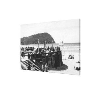 Seaside, Oregon Turnaround and Tillamook Head Canvas Print