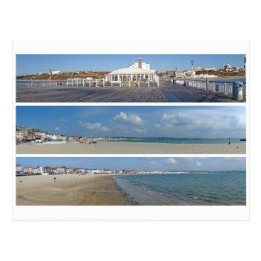 Beach Themed Seaside panoramas postcard