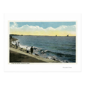 Seaside Park View of the Sound Postcards
