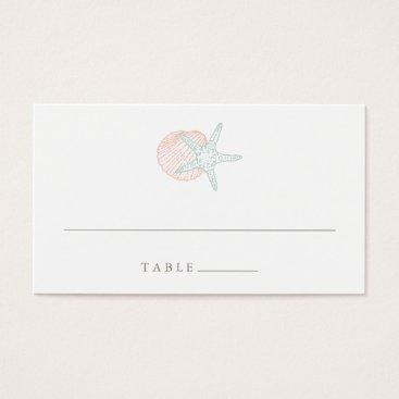 Beach Themed Seaside Pastels Wedding Escort Place Cards
