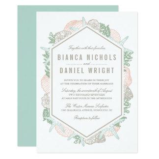 Seaside Pastels Wedding Invitation