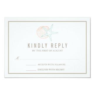 Seaside Pastels Wedding RSVP Response Card