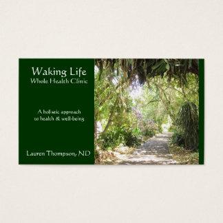 Seaside Path- Emerald Green Business Card