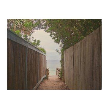 Beach Themed Seaside Path Wood Wall Art