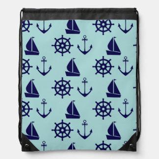 Seaside Pattern Drawstring Backpack