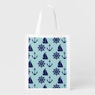 Seaside Pattern Grocery Bag
