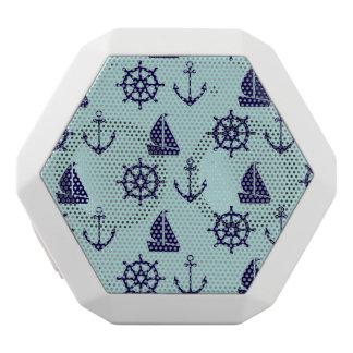 Seaside Pattern White Bluetooth Speaker