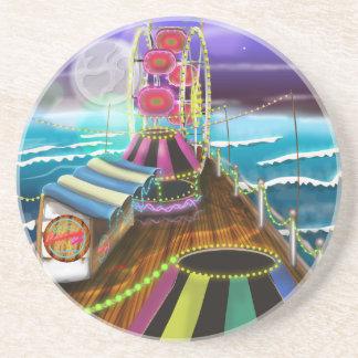 Seaside Peer Arcade Funfair Drink Coaster