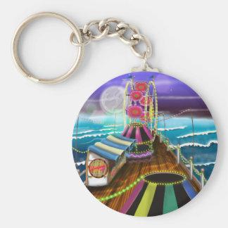 Seaside Peer Arcade Funfair Keychain
