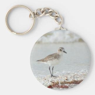 Seaside Plover Basic Round Button Keychain