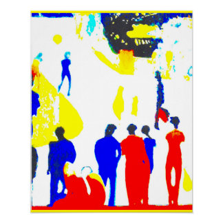 Seaside Promenade Street Scene Poster