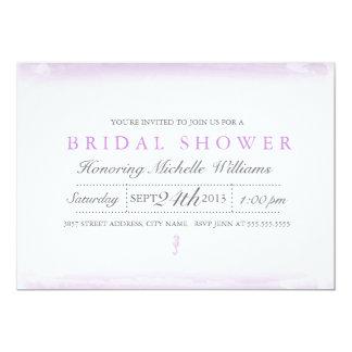 Seaside Purple Bridal Shower Invitation