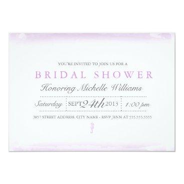 Beach Themed Seaside Purple Bridal Shower Invitation