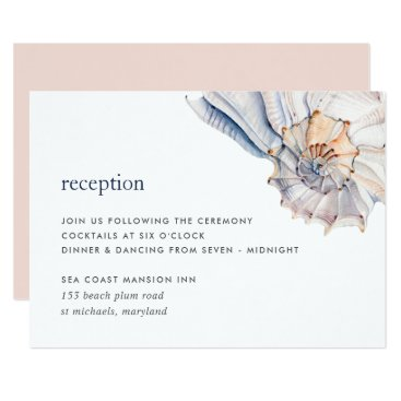 Beach Themed Seaside Reception Enclosure Card