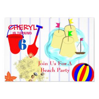 Seaside Sand Castles Fun Summer Beach Themed Card
