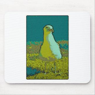 Seaside seagull mouse pad