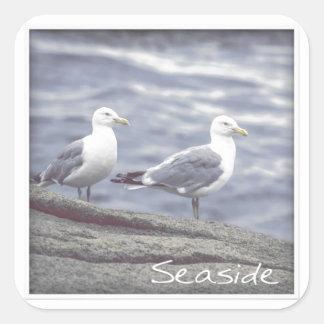 Seaside Seagulls Sticker