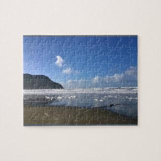 Seaside Shore in Winter Jigsaw Puzzle