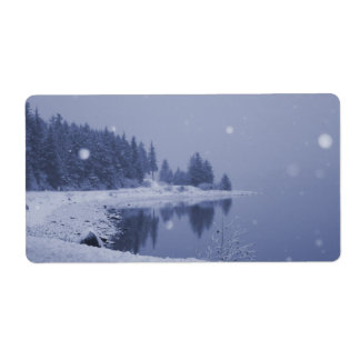 Seaside Snowfall Label